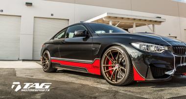 BMW M4 von TAG Motorsports mit höhenverstellbaren KW Federn