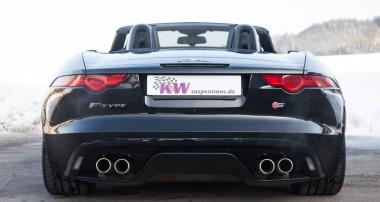 Pures Fahrvergnügen: Jaguar F-Type mit höhenverstellbaren KW Federn