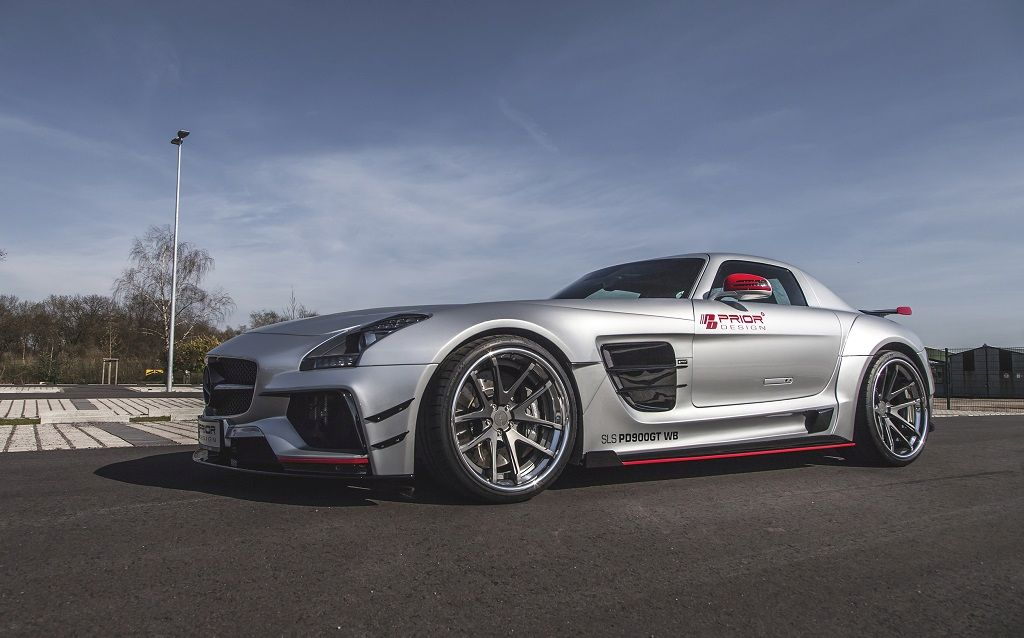 prior design versch rft den sls amg mit einem widebody kit kw automotive blog. Black Bedroom Furniture Sets. Home Design Ideas