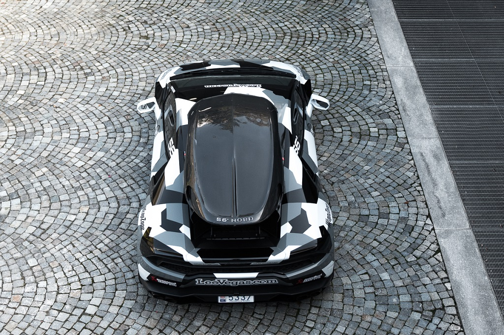 Jon Olssons Lamborghini Huracan LP 610-4 mit KW Gewindefedern