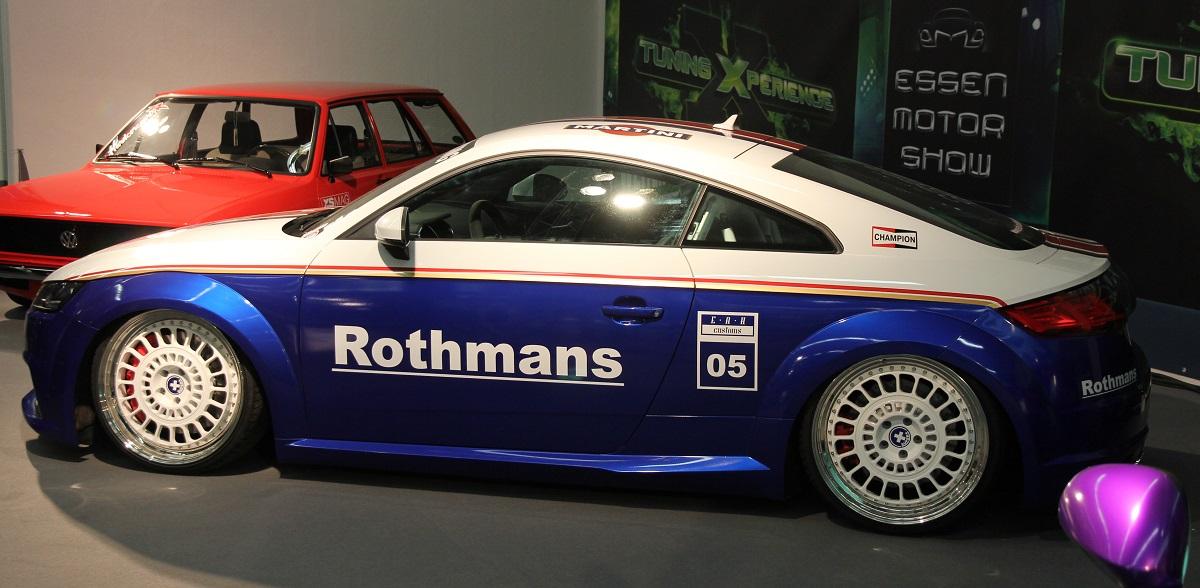 Audi TT im Rothmans Style auf der Essen Motor Show mit KW Gewindefahrwerk.