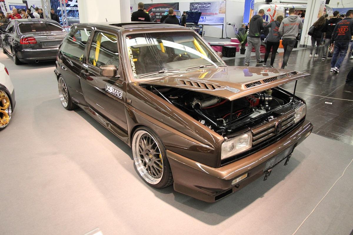 VW Golf II Rallye mit ST suspensions Gewindefahrwerk