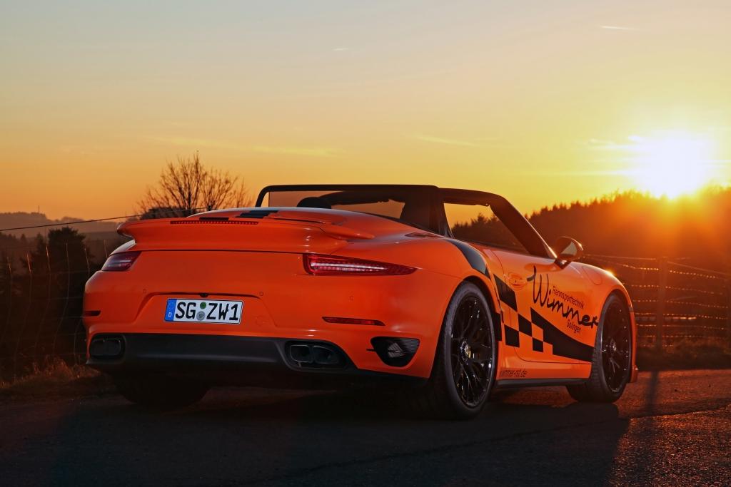 Auch das 840 PS starke Wimmer Porsche 911 Turbo S Cabrio ist meinem KW Clubsport Gewindefahrwerk ausgerüstet.