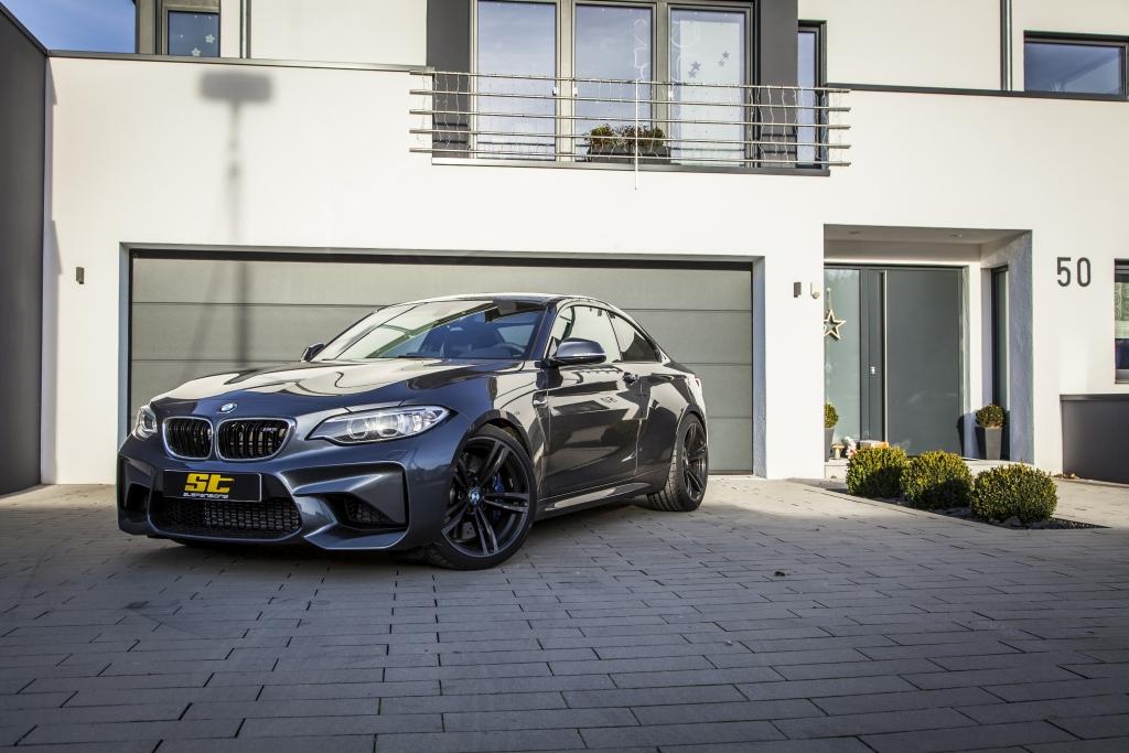 BMW M2 mit ST Federn und DZX Distanzscheiben