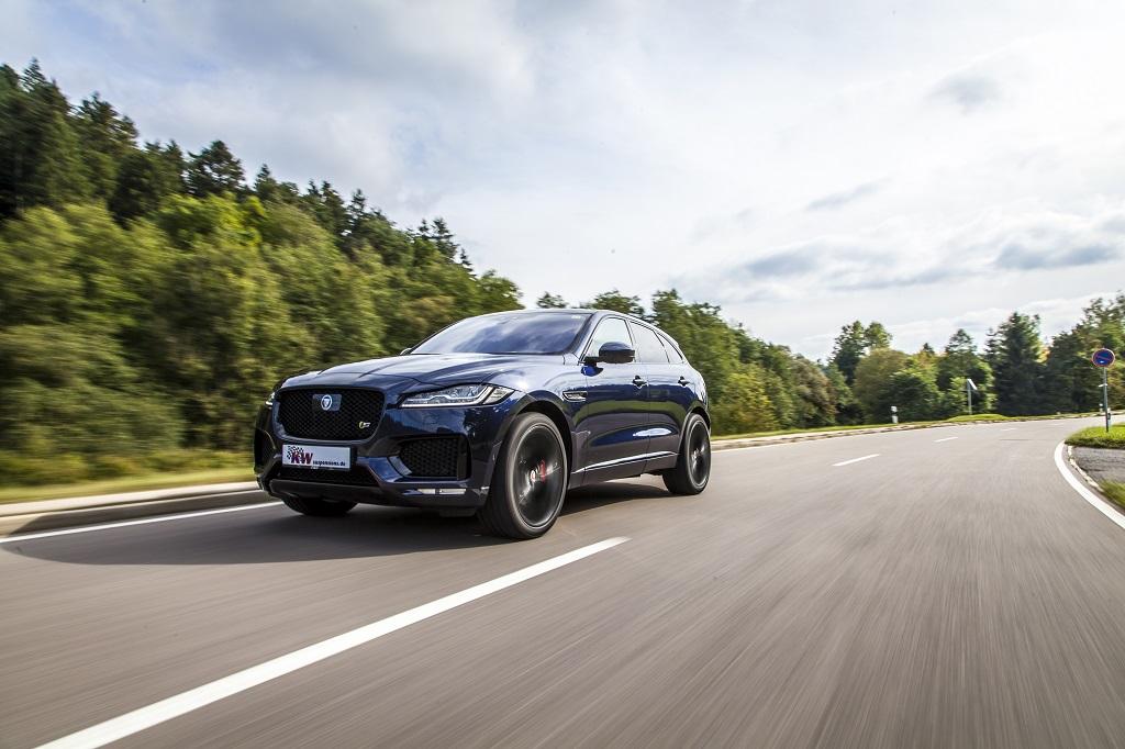 Jaguar F-Pace SUV mit KW Gewindefedern