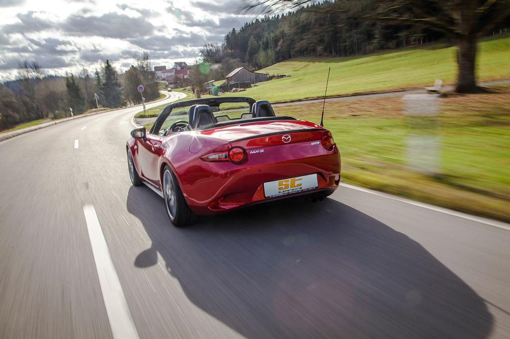 Mehr Fahrspaß im Roadster dank ST suspensions