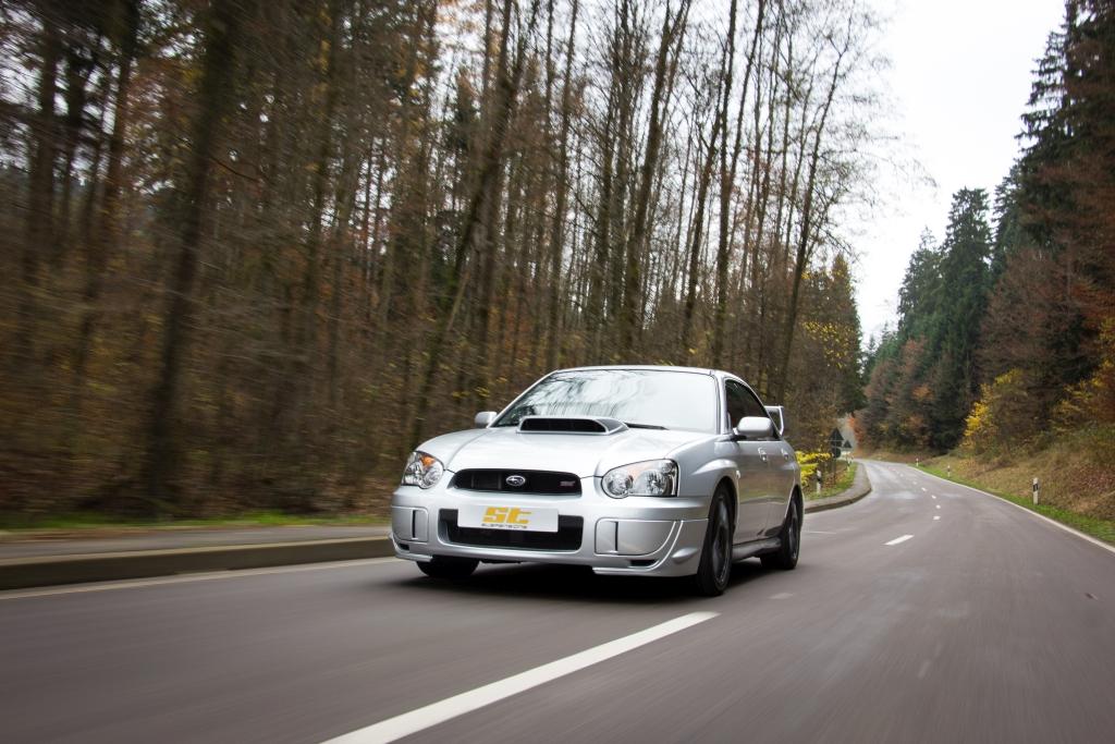 Für diverse Subaru Impreza Modelle hat ST suspensions Gewindefahrwerke für mehr Fahrdynamik entwickelt.
