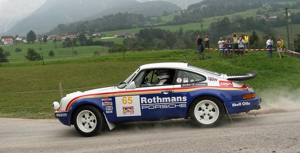 Legendär: Porsche im Rothmans Dekor für den Rallyesport.