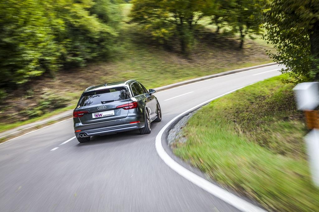 Für den Audi A4 (B9) gibt es ebensfalls KW Gewindefahrwerke