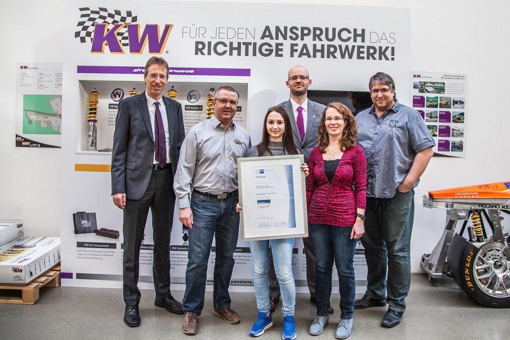 IHK Heilbronn-Franken zeichnet KW automotive aus