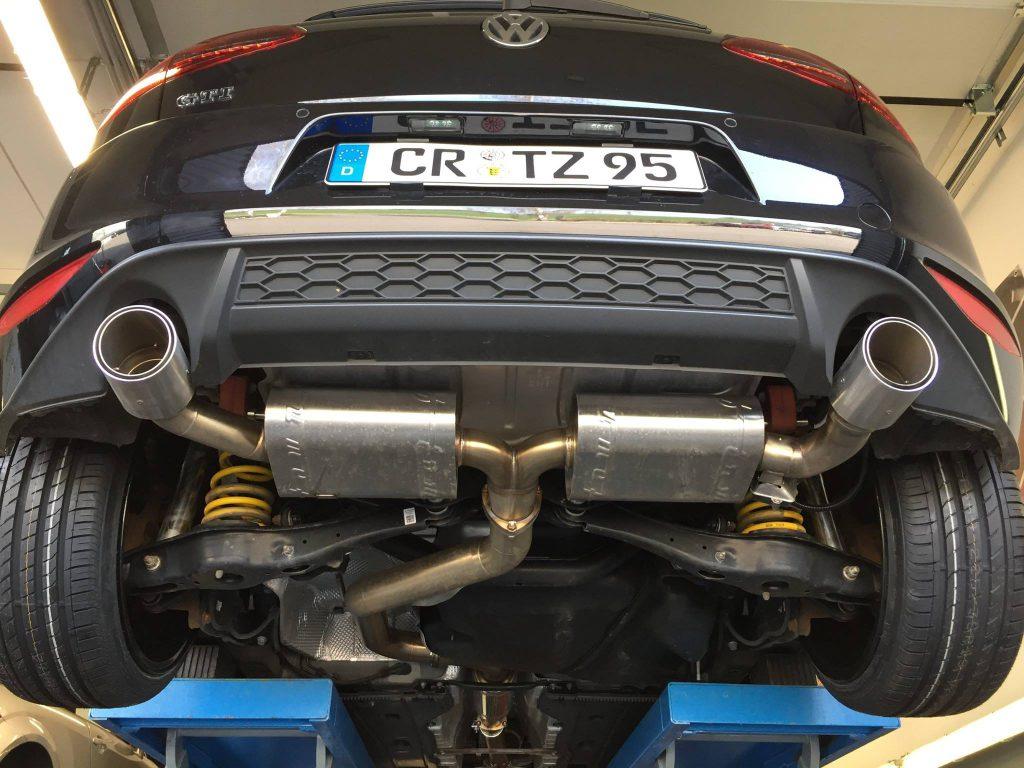 VW Golf 7 GTI mit KW V3 und SuperPlus-Felgen