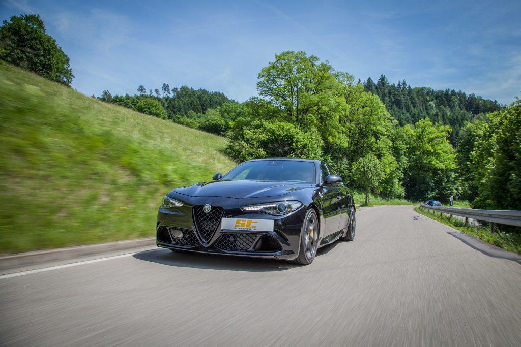 ST hat für die neue Alfa Romeo Giulia Quadrifoglio bereits Fahrwerksfedern entwickelt