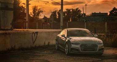 Sieht super aus: ein Audi A5 mit unseren KW Gewindefedern!