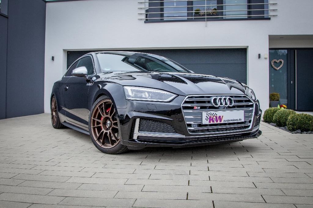 Auch fürs neue S5 Coupé von Audi ist das KW Gewindefahrwerk Variante 3 erhältlich