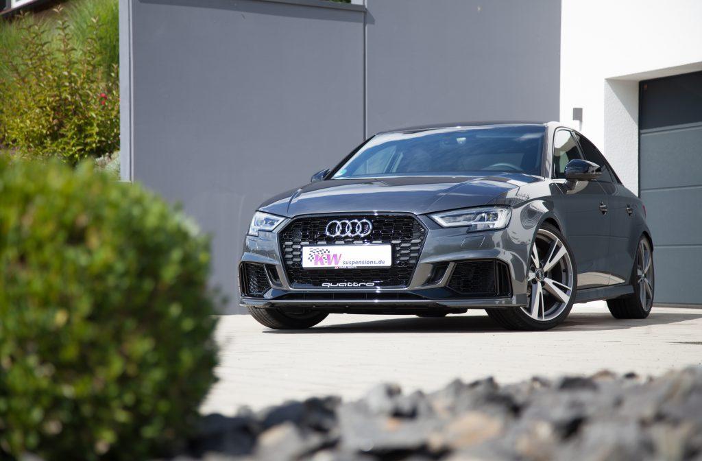 Mit einem KW Gewindefahrwerk ist es ein Leichtes das Handling und die Fahrdynamik der neuen Audi RS3 Stufenheck-Limousine zu steigern.