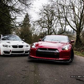Die unendliche Qual der Wahl: M3 oder GT-R? Wenigstens beim Fahrwerk sind wir uns ja einig …