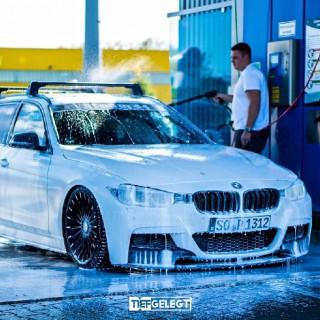 Herausgeputzt: ST X Gewindefahrwerk im BMW Dreier Touring