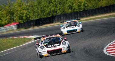 ADAC GT Masters: Porsche-Mannschaft KÜS Team75 Bernhard ohne Rennglück in Most