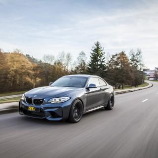 Das ST XTA plus 3 für den BMW M2 ist ein 3-fach einstellbares Gewindefahrwerk mit dem besten Preis-Leistungsverhältnis für die Straße